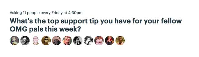 What's the top support tip you have for your fellow OMG pals this week?
