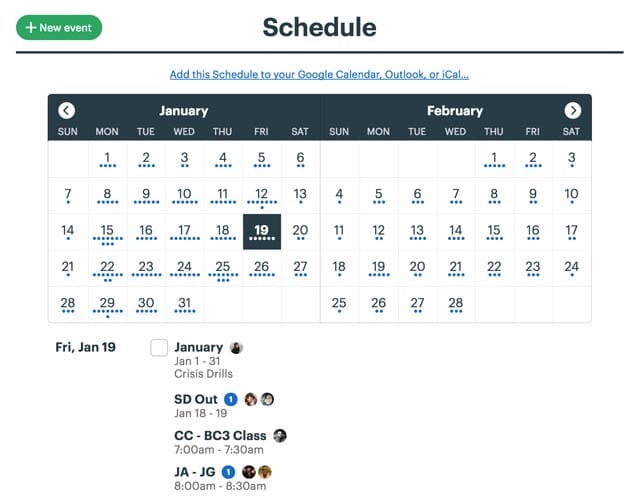 schedules in Basecamp 3
