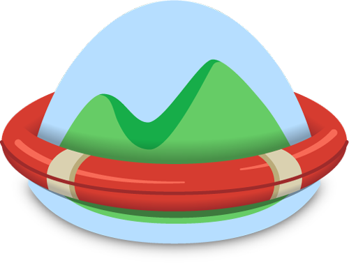 Basecamp logo with life ring around it