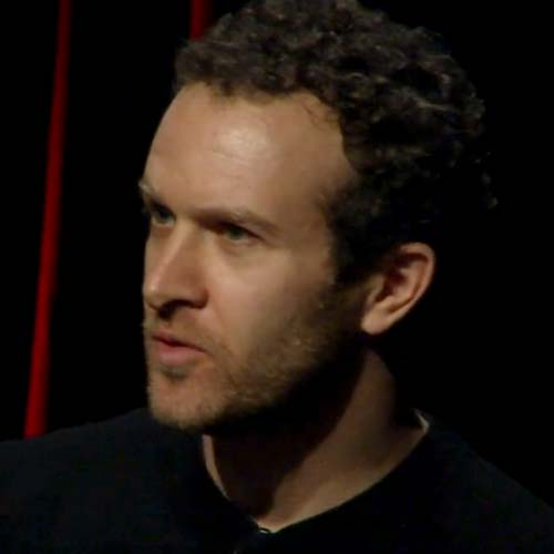 Jason Fried on stage at TEDx Midwest