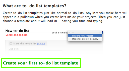 Project To Do List Templates | Basecamp Classic Can I Save And Reuse To Do Lists