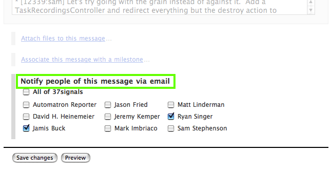 Notify Email Message